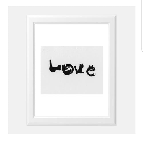 Cats spell love wall art 💕