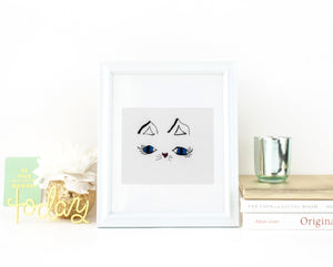 Cat eyes wall art