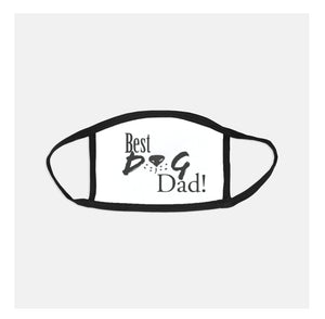 Best Dog Dad fitted face mask