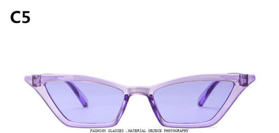New Cat Eye Colorful Transparent Sunglasses - She Nauty Boutique