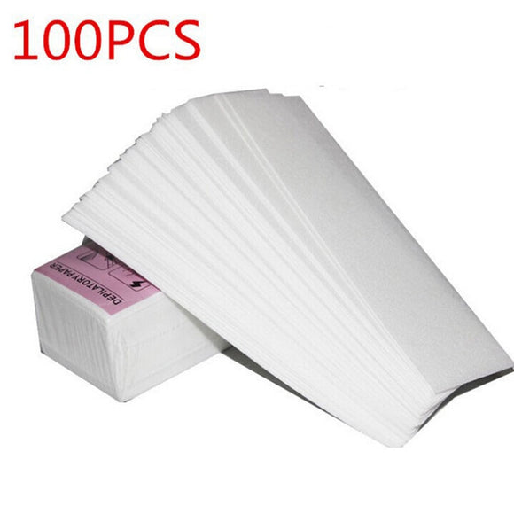 SAUJO01419 100pcs Removal Nonwoven Body Cloth Hair Remove Wax Paper Rolls High Quality Hair Removal Epilator Wax Strip Paper Roll P2
