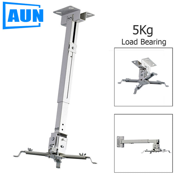 2AUN Adjustable Projector Ceiling Mount Loading 5KG Roof Projector Bracket For Multimedia Projector LED Proyector Video Projector