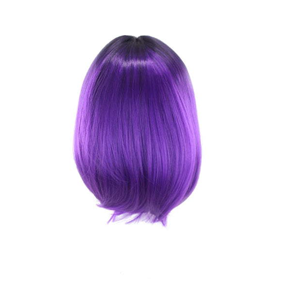 SAUJO01 IROBOTBOX Womens Bob Wig Gradient Color Cosplay Synthetic Hair Wig Short Straight Wigs Lace High Temperature Bob Wig
