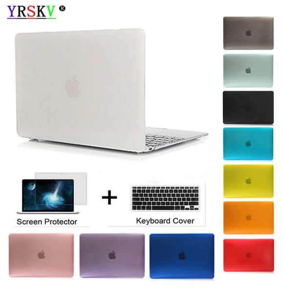 SAUJO01419 YRSKV-Crystal\Matte Transparent case For Apple macbook Air Pro Retina 11 12 13 15 laptop bag for macbook Air 13 case cover+gift