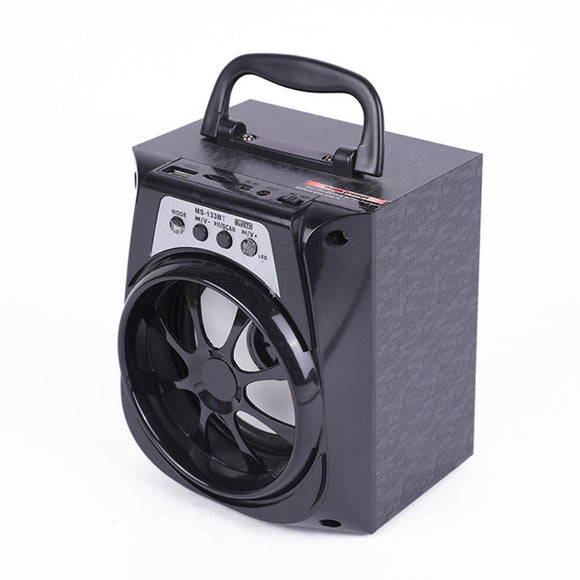 Wireless Portable Bluetooth Speaker MP3 Audio Player Sound Box with LED Light Supports USB FM Radio TF Card AUX Sound Box