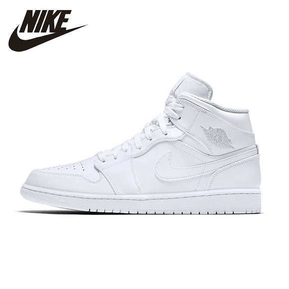 NIKE AIR JORDAN 1 MID AJ1 Original Mens Basketball Shoes Stability Breathable High Quality Sneakers For Men Shoes#554724-104