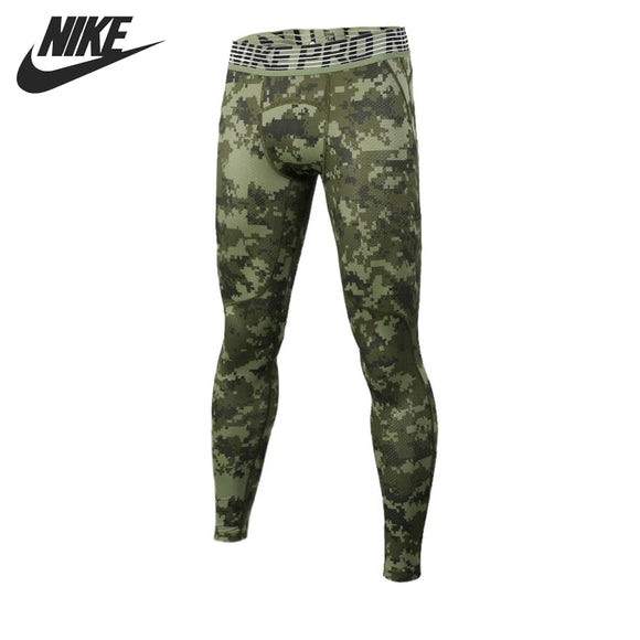 Original New Arrival  NIKE HPRCL TGHT DIGI CAMO Men's Tight Pants Sportswear