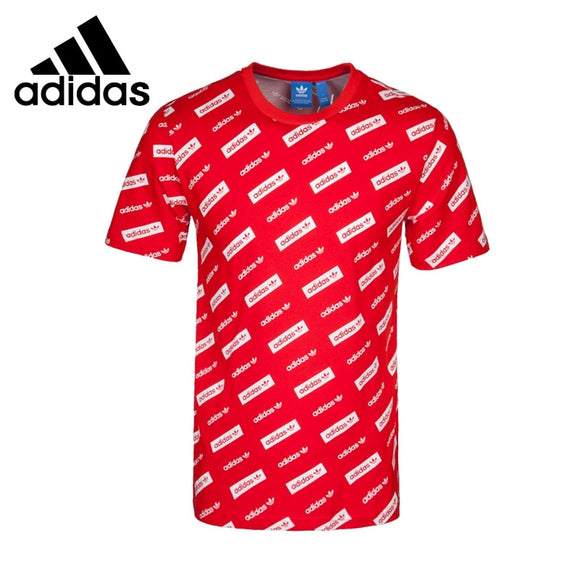 SAULA01419 Original New Arrival  Adidas Originals MAD TREFOIL TEE Men's T-shirts short sleeve Sportswear