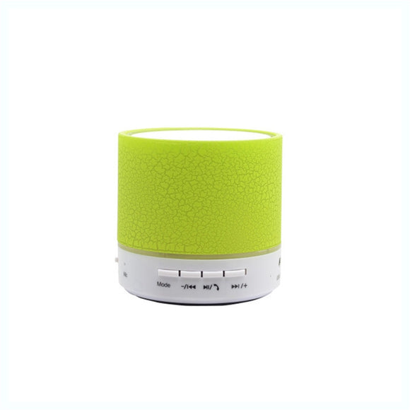 Wireless Bluetooth Speaker Mini Sound Box with USB 2.0 Memory Card Slot 3.5mm Audio Built-in LED Lights Mic Bass Subwoofer (Green)