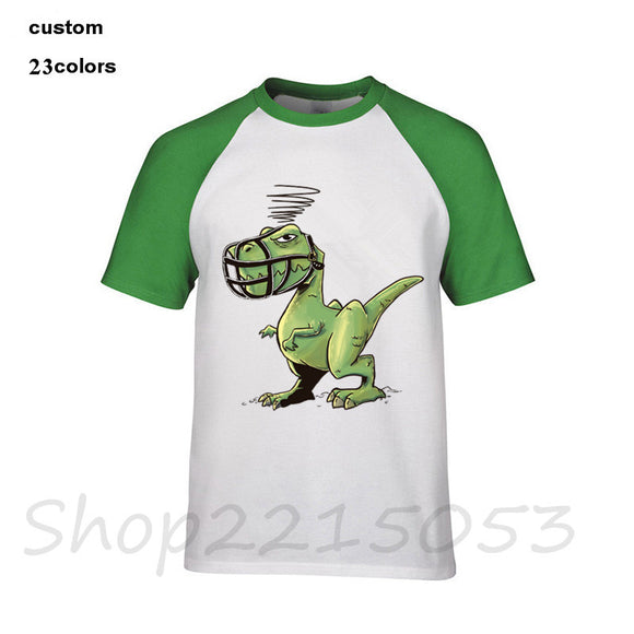 SAUJO01419 2018 funny Angry Dino Men Crocodile game T-Shirt cotton short sleeve Lacosted male t shirts harajuku brand logo clothing tshirt