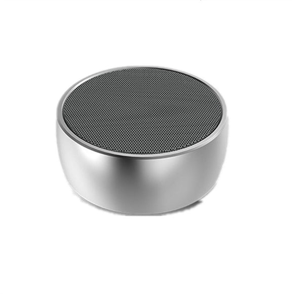 Mini Round Portable Wireless Bluetooth Music speaker for Outdoor Sport with Metal Bass Hatch, Clear Amazing Sound Music Player Handfree Call TF Card And Voice Function (Silver)