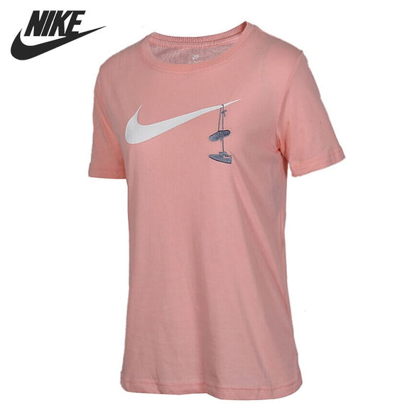 SAUJO01419 Original New Arrival 2018 NIKE SWSH SHOES EMBRD Women's T-shirts short sleeve Sportswear