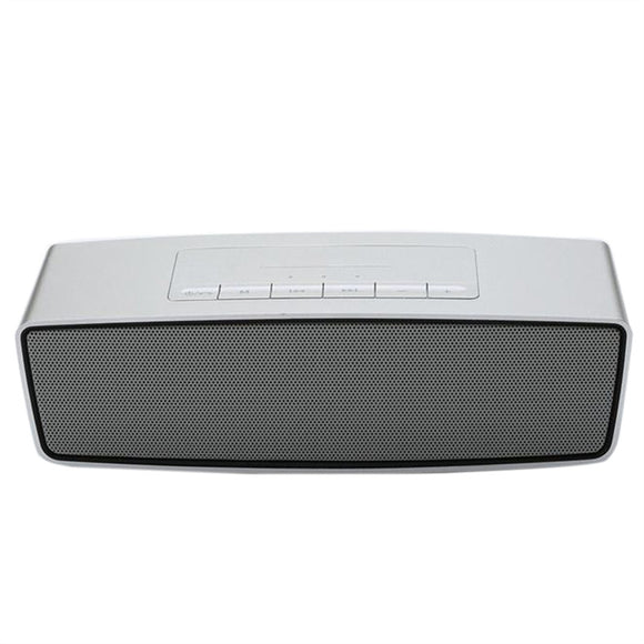 Portable Wireless Bluetooth Speaker Outdoor Subwoofer Stereo Speaker Super Bass Sound Box Music Player Support AUX IN U Disk TF Card (Silver Grey)