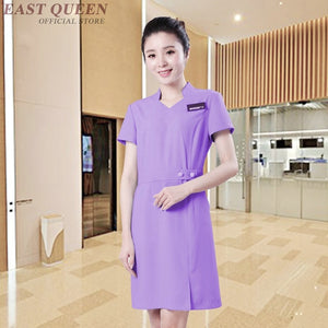 SAUDO01419 Massage spa uniform beautician massage uniform clothing beauty salon scrubs medical uniforms women nurse clothing gowns DD1017