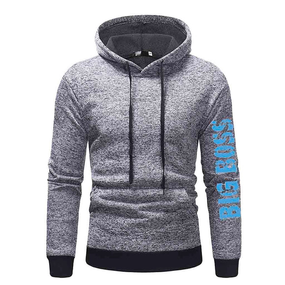 Mens' Autumn Winter Long Sleeve Casual Hoodie Pullover Sweatshirt Outwear Tops