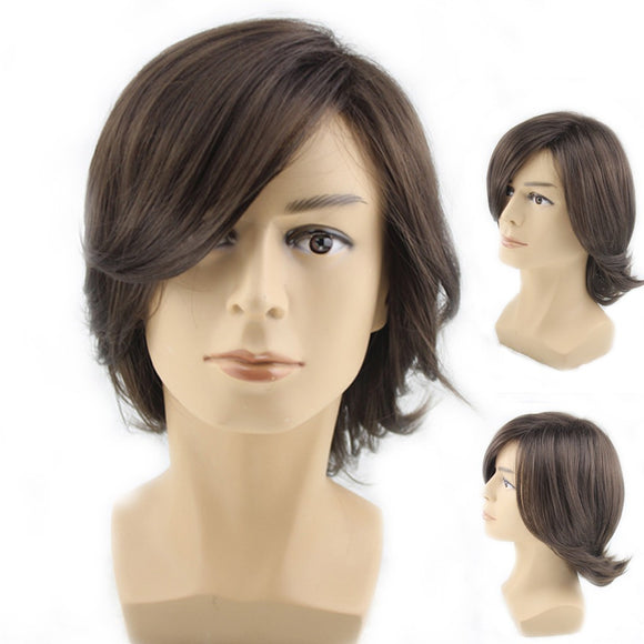 SAUJO01 BESSKY TECHNOLOGY Rocker Men Fashion Short Hair Wig Perfect For Carnivals Party Cosplay Festival