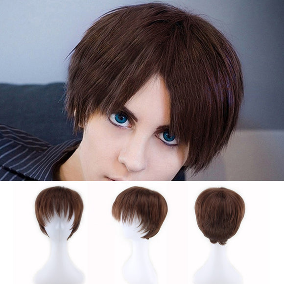 Men Fashion Inner Warping Short Hair Wig  Perfect For Carnivals Party Cosplay