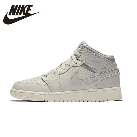 NIKE AIR JORDAN 1 MID Original Womens Basketball Shoes Breathable Comfortable Support Sports Sneakers For Women Shoes