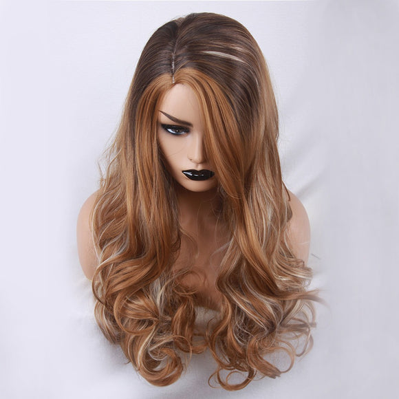 SAUJO01 BESSKY TECHNOLOGY Mix Colors Fashion Cosplay Synthetic Long Curly Hair Wig Costume Wigs For Party