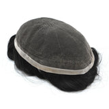 Toupee for Men 100% Remy Human Hair Swiss Lace Base Hair Replacement Men's Lace Toupee Top Hairpiece