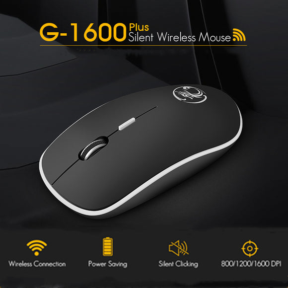 SAUJO01419 iMice Wireless Mouse Silent Computer Mouse 2.4Ghz 1600 DPI Ergonomic Mause Noiseless USB PC Mice Mute Wireless Mice for Laptop