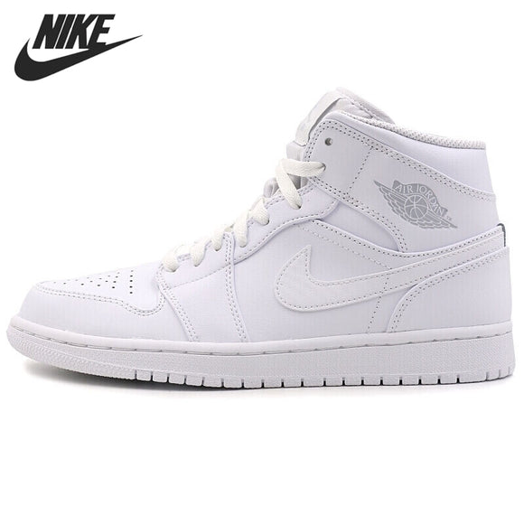 SAUD01419 JackRabbit Store (AliExpress) Nike Air Jordan 1 MID Original New Arrival Men's Basketball Shoes Outdoor Sports Sneakers #554724