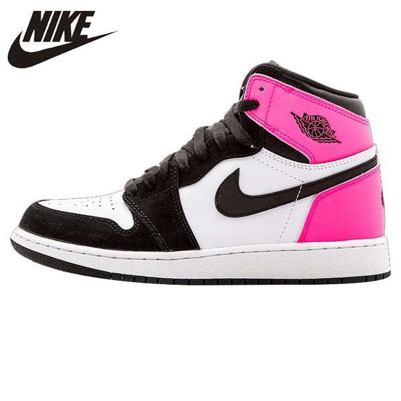 Nike Air Jordan Nike 1 Retro High OG GG Black and White Women's Basketball Shoes Sneakers 881426 009