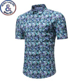 SAUDO01419 Mens Hipster Summer Slim Fit Short Sleeve Floral Shirt 2018 Brand New Beach Hawaiian Shirt Mens Casual Shirts Camisa Havaiana