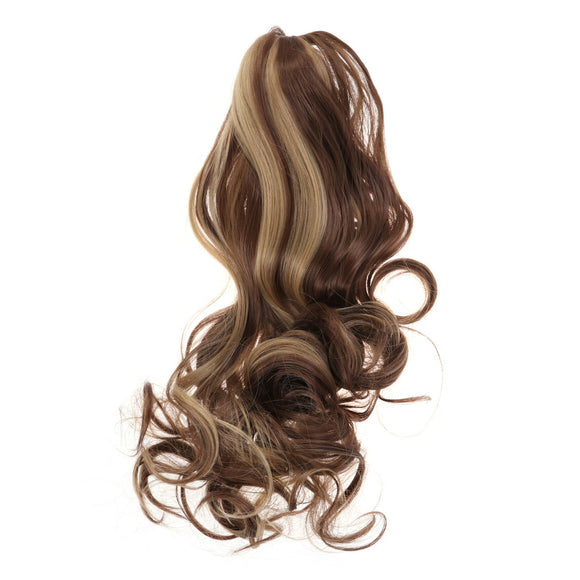 SAUJO01 IROBOTBOX 50cm Long Curly Synthetic Hair Wig Jaws Clamp Claw Curl Ponytails Hair Extensions Clip Hairpiece