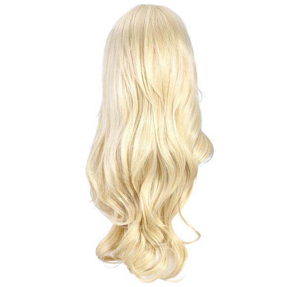 Long Blonde Wavy Wig Heat Resistant Synthetic Wavy Hair Full Hair Wigs for Women