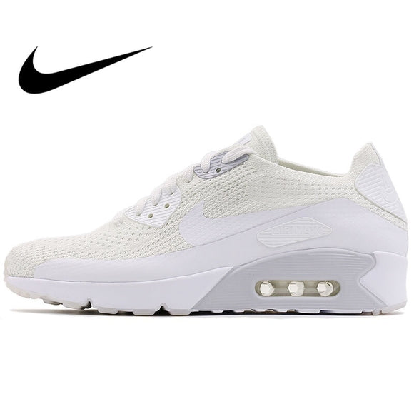 419SAUPHIGE01 Original NIKE AIR MAX 90 ULTRA 2.0 FLYKNIT Men's Running Shoes Sneakers Nike Shoes Men Breathable Cushioning Low Top 875943
