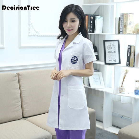 SAUDO01419 2019 new work clothes thai massage uniforms purple nurse uniform sets high quality uniforms spa clothing scrubs