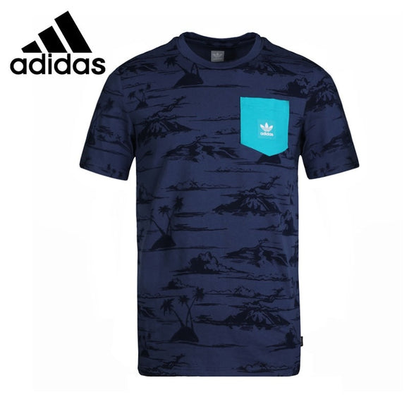 Original New Arrival  Adidas Originals HAVEN PKT TEE Men's T-shirts short sleeve Sportswear