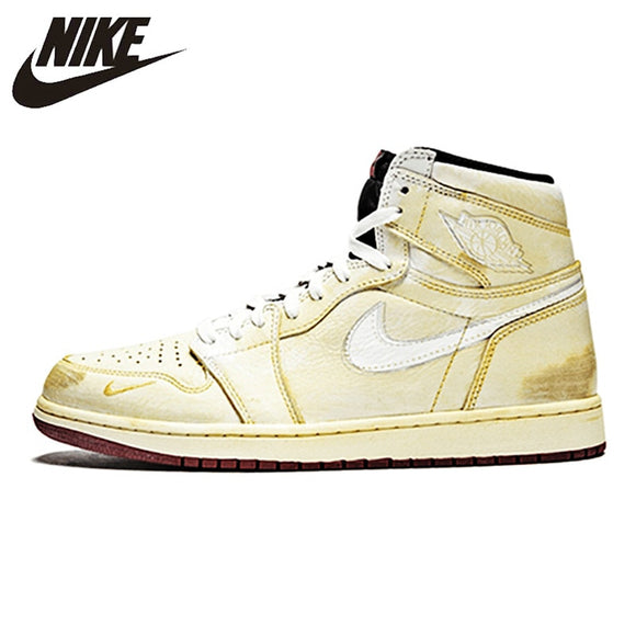 Nike Nigel Sylvester X Air Jordan 1 High OG  Sneakers cream-coloured Men's Basketball Shoes BV1803-106 40-45