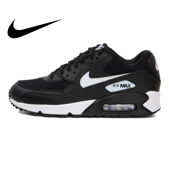 419SAUPHIGE01 Original 2018 NIKE WMNS AIR MAX 90 Women's Running Shoes Sneakers Breathable Cushioning Nike Shoes Women Outdoor Walking 325213
