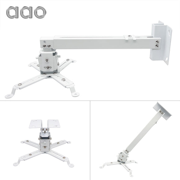 SAUJO01419  AAO Projector Brackets Adjustable Projector Ceiling Mount Loading 15KG Roof Projector Bracket YG600 HD Projector Mount Stand