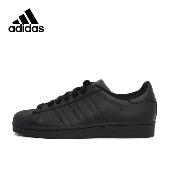 SAUJO01419 Adidas SUPERSTAR Black Hard-Wearing Men's nd Women's Skateboarding shoes,New Arrival Authentic Sports Sneakers UK Size U