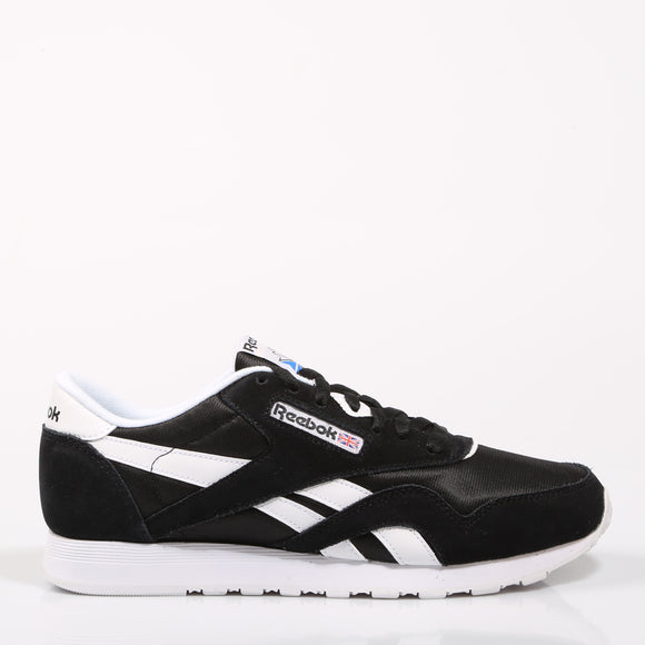 REEBOK CLASSIC NYLON Black Shoes Woman Running Casual Textile SoftFoam Stencil Authentic Breathable Original