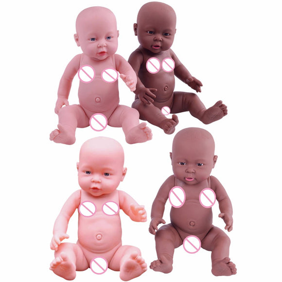 SAUJO01419 Baby 41cm Newborn Baby Simulation Doll Soft Children Reborn Doll Toy Boy Girl Emulated Doll Kids Birthday Gift Kindergarten Props