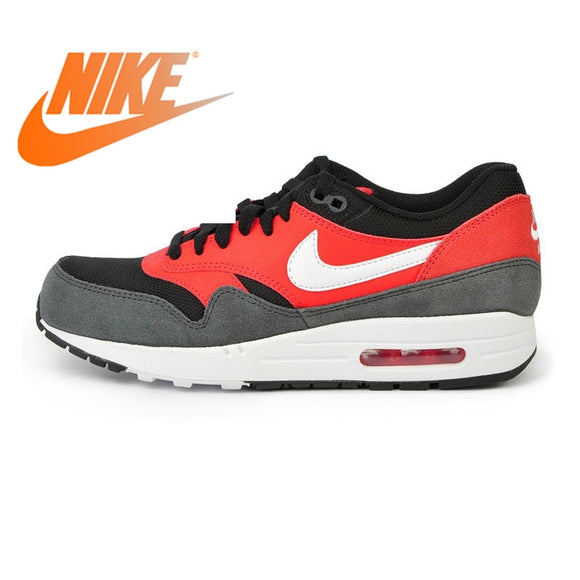 419SAUPHIGE01 Official Original NIKE AIR MAX 1 ESSENTIAL Men's Running Shoes Sneakers Nike Shoes Men Breathable Cushioning comfortable 537383