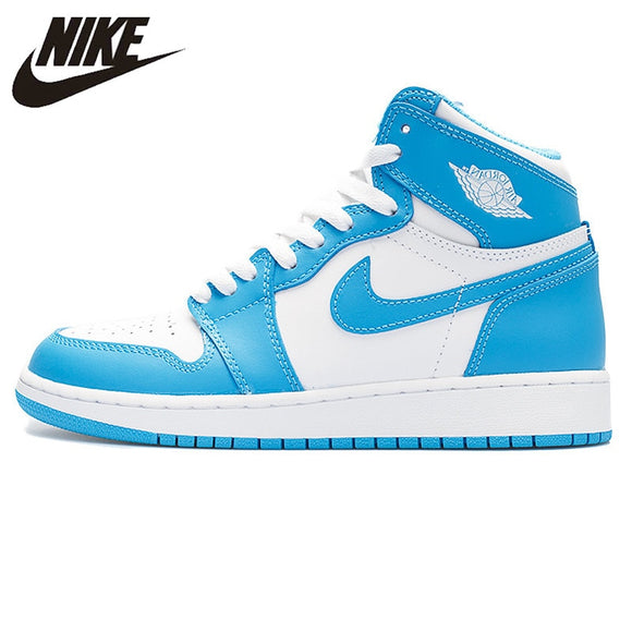 Nike Air Jordan 1 Retro High OG UNC Joe AJ1 Men's Basketball Shoes Sneakers, Original Outdoor Non-slip Shoes 555088 117