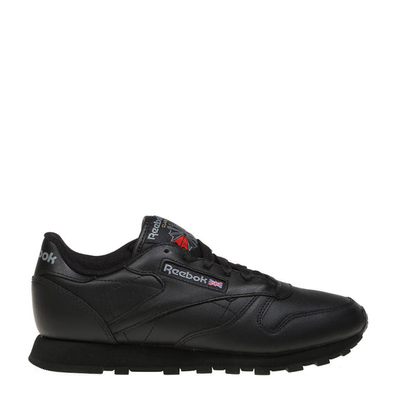 REEBOK CL LTHR Black Sneaker Causal Women Lightweight Flat Molded Textile Durability Soft Leather Comfortable Fashion Gril 63575