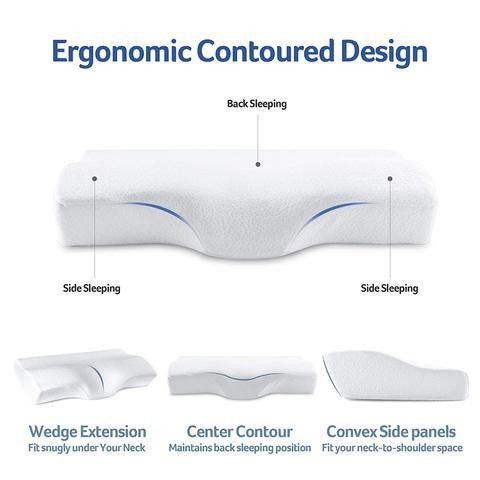 Space Memory Cotton Pillow Cervical Care Pillow Memory Pillow Slow Rebound Memory Cotton Pillow Convex Pillow
