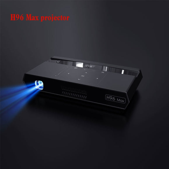 2019 New projector H96 Max Projector S912 2GB and 16GB dual wifi mini DLP projector With BT Speaker Android 6.0 Projector