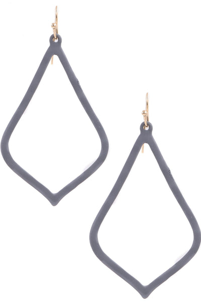 Matte Metal Teardrop Earrings