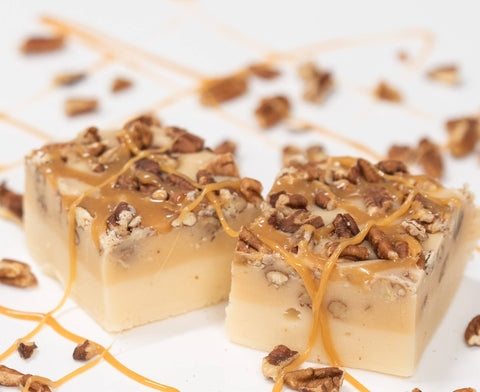 Caramel Turtle Cheesecake Fudge