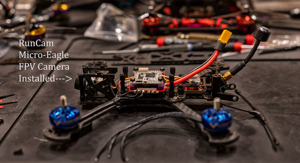RunCam Micro Eagle FPV Cam Installed