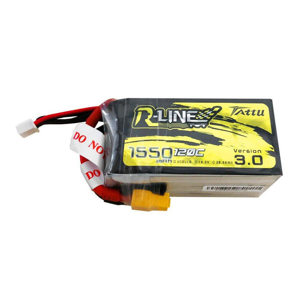 Tattu R-Line Version 3.0 18.5 5S 1550mAh 120C LiPo Battery - XT60