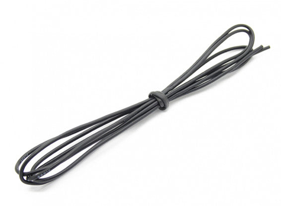High Quality 24AWG Silicone Wire 1M (Black)