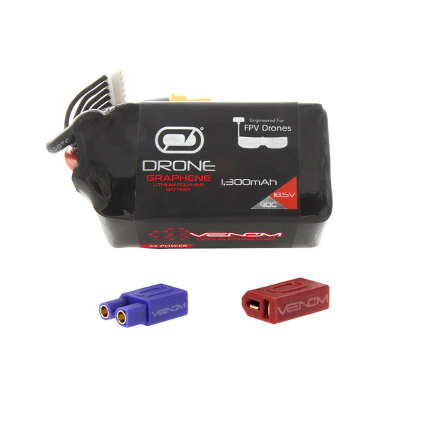Venom Graphene 90C 5S 1300mAh 18.5V Drone Racing LiPo Battery with UNI 2.0 Plug